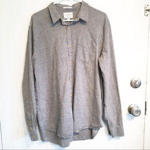 Lucky Brand Men's Linen Blend Button Down Shirt